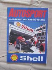 AUTOSPORT - 1989 GRAND PRIX RACING REVIEW. 51PP