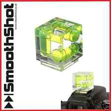 THREE 3 AXIS TRIPLE BUBBLE SPIRIT LEVEL FLASH HOT SHOE MOUNT FOR DSLR CAMERA