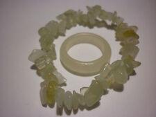 cristalloterapia BRACCIALE GIADA + ANELLO braccialetto cristallo nefrite reiki