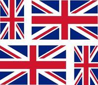 4 x union jack uk great britain GB england decals sticker bike car vinyl
