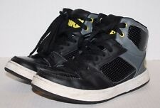 OSIRIS Black Gray w/Yellow High Top Leather Skater Skateboard Sneakers Size 6