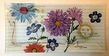 "FRINGE STUDIO Decorative Rectangular Glass Tray ""Friend"" Gift Floral - NEW"