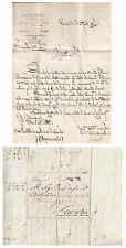 B155) PREFILATELICA AUSTRIA 1783 DA VIENNA A FAENZA.