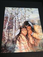 "Indian Couple In Aspen Trees Large 16"" X 20"" Picture Print New In Lithograph"