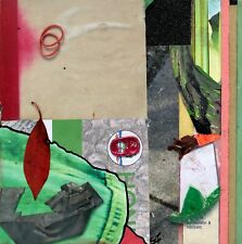 """""""I'm Just Kidding"""" - Red Found Object Collage Art Painting - Steven Tannenbaum"""