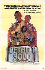 DETROIT 9000 Movie POSTER 27x40 Alex Rocco Scatman Crothers Hari Rhodes Lonette