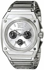 NEW Breil Milano TW0690 Men's Analog Chronograph Silver SS Bracelet Sports Watch