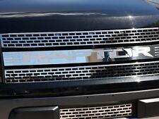 """2010-2014 Ford Raptor Front Grille Polished with Brushed """"RAPTOR"""" Insert 772021"""