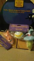 The Nightmare Before Christmas Lock, Shock & Barrel Stress Ball 3 pcs Lot