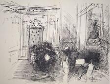 """""""Le concert privé""""  lithographie signée Raoul DUFY"""