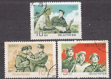 KOREA 1967 used SC#793/95 set, Korean People`s Army.