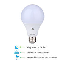 E27 7W Dusk to Dawn Auto Sensor Light Bulb Sensor LED Lamp Bulb Cool White