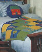Baby Blanket and Cushion with motifs Knitting Pattern DK 458