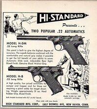 1949 Print Ad Hi-Standard Model H-DM & H-B Automatic 22 Pistol High New Haven,CT
