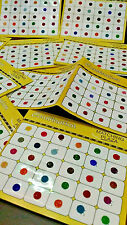 120 Piece-Multi Color  GLITTER Indian Bindi Round Dots Tattoo - 2 Different SIZE
