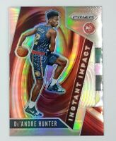 2019-20 Panini Prizm Instant Impact Silver De'Andre Hunter Rookie RC #4, Hawks