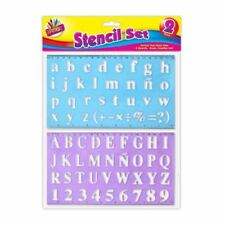2pc Alphabet Stencil Set Large Small Letters Numbers Kids Childrens Craft Text