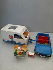 Playmobil caravan with car and accessories.