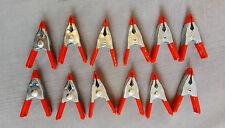 12 Stück Leimzwinge 50 mm Metall Leim Zwingen kleine Federzwingen Klemmzwingen