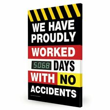 We Have Proudly Worked_ Days with No Accidents Digital Safety Scoreboard,...