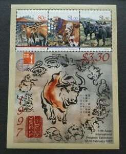 1997 New Zealand Zodiac Lunar Year of Ox MS (Hong Kong Stamp Exhibition) Mint NH