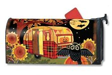 Halloween Camper Magnetic Mailbox Cover Primitive Holiday MailWraps Standard