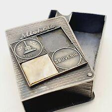 Pocket ashtray with City Miskolc advert Hungary vintage 1950's