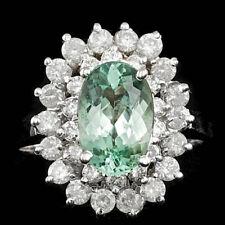Certified 3.00cttw Paraiba Tourmaline 0.80cts Diamond 14KT White Gold Ring