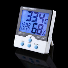 HTC-6 Luminous LCD Digital LED Night Light Thermometer Hygrometer Humidty Clock