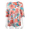 Camicia con Stampa di Fiori Bambina Rosa Pesca/Celeste Take Two A00372