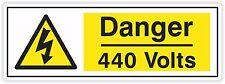 1x Danger 440 volt sticker for home door stop portable lock shop