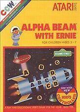 Sesame Street: Alpha Beam With Ernie Atari 2600 Game Cart Tested