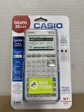 Calculatrice Casio Graph Graphique 35E+II Mode Examen + Menu Python Neuve 35 EII