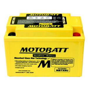 MotoBatt AGM Battery 1985-97 fits Honda VT 1100C Shadow Spirit 2010-12 VRX 1200F