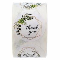 "500Pcs ""Thank You"" Envelope Label Kraft Paper Craft Packaging Bag Seals Stickers"