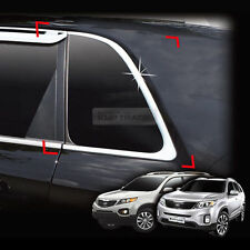 Chrome Silver C pillar Window Molding Cover Garnish For KIA 2010-2014 Sorento R