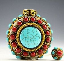 Snuff Metal Bottle Vintage Design Beads For Fashionable Home Display Accessories