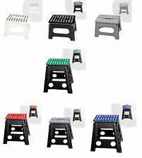 Folding Plastic Step Stool Foldable Ladders Camping Stools Ladder Easy Storage