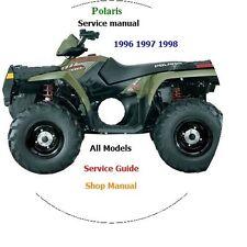 1996 - 1998 Polaris ATV All Model Service Manual. ATV & UTV PDF CD.