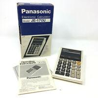 Vintage Panasonic Model JE-170U ELECTRONIC Calculator Works With Box & Manual
