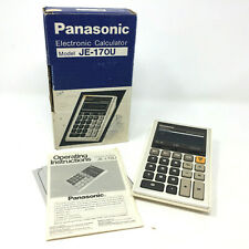 Vintage Panasonic Model JE-170U ELECTRONIC Calculator Works With Box & Manual