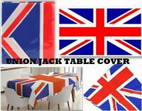 Plastic Table Cover Tablecloth Party Catering Events Tableware Union Jack Flag