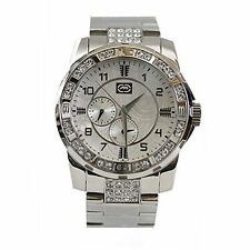 NEW Mens Marc Ecko UNLTD Watch Silver Stainless Steel E16574G1 $165 Diamonds