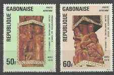Timbres Religion Noel Arts Gabon PA188/9 * lot 27195