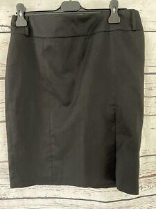 John Richmond Ladies Black Pencil Skirt Size 14 ❤️PRE LOVED❤️