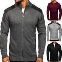 Strickjacke Pullover Sweatshirt Sweater Rollkragen Pulli Herren Mix BOLF Motiv