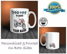 BMW R1200GS Motorbike Personalised Ceramic Mug Gift (MB039)