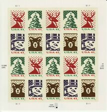 HOLIDAY KNITS STAMP SHEET -- USA, #4207-#4210 41 CENT CHRISTMAS