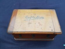 Vintage C1926-50's Solila Dental Burs (Drill Bits) In a Wooden Box