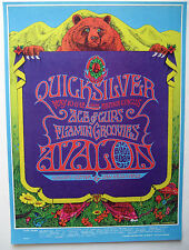 1968 QUICKSILVER MESSENGER FLAMIN GROOVIES FAMILY DOG FILLMORE POSTER FD 118 1ST
